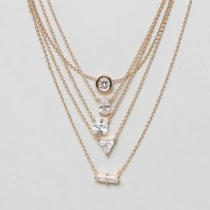 Aldo drayn layered necklace (gold)